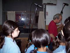 Grabamos el Himno del colegio en un estudio de grabación