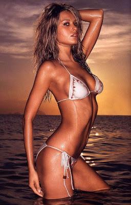 MALAYSIA actress Eva Green beautiful woman in the beach with bikini