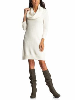 White Sweater Dress on Cowl Neck Sweater Dress   36 50  Available In White  Black  And Plum
