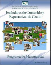 Espectativas por grado Programa de Matemática del DEPR