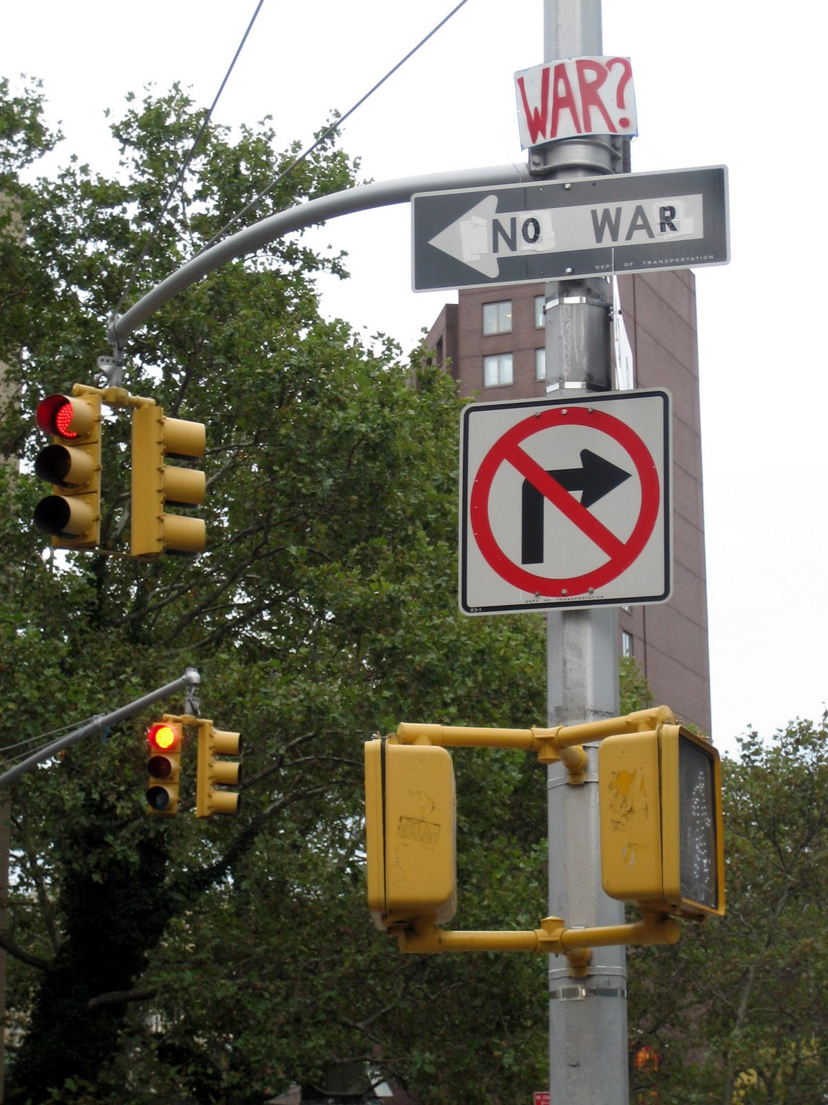 Astor Place New York No War