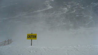 Breckenridge Caution Sign