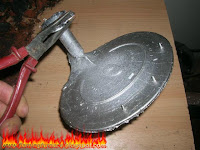 sand casting aluminum spaceship part 1