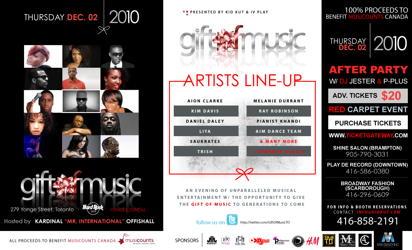 The Gift of Music Flyer