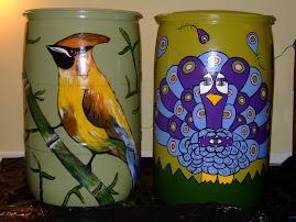 Pammie and Pajaro Bird Rainbarrels