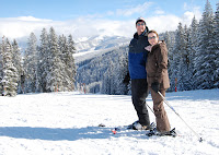 Jerrod & Tracy skiing in CO