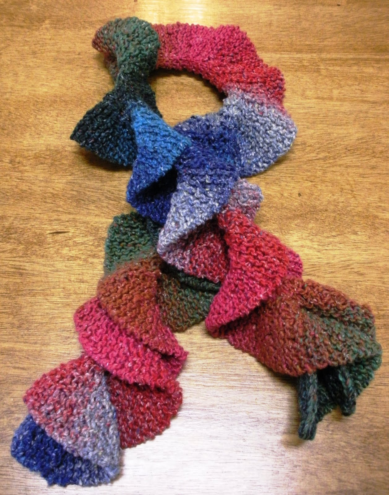 Knitting Pattern For Potato Chip Scarf : Over The Picket Fence: April 2010