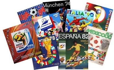 Albumes de los Mundiales de futbol del 70 al 2010 de Panini