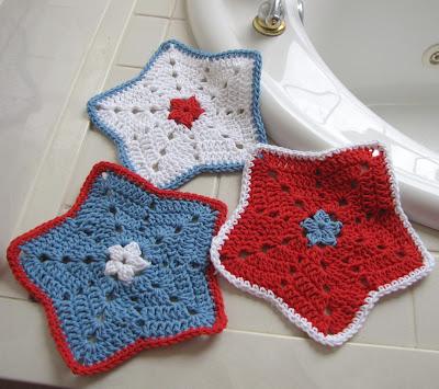 Bellacrochet Little Star Dish Cloth Or Wash Cloth A Free Crochet