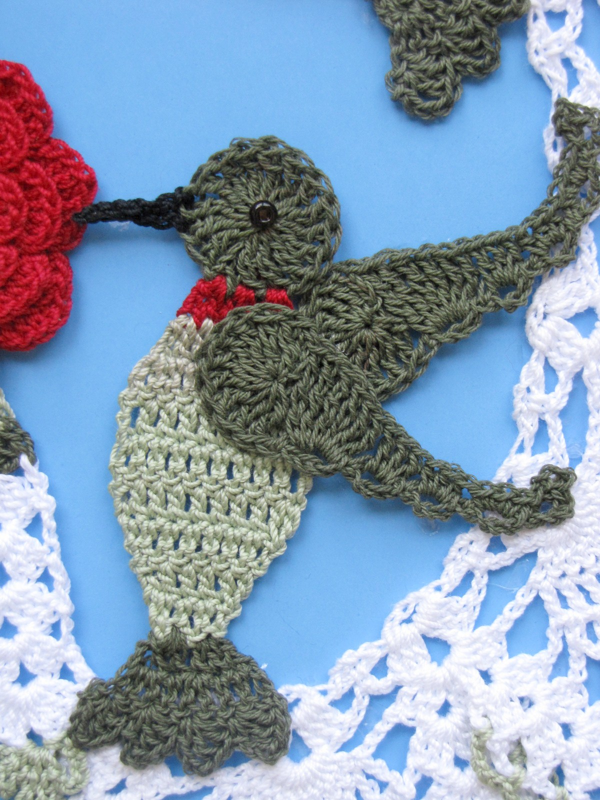 bellacrochet hummingbird and roses doily is finally available free crochet hummingbird doily pattern