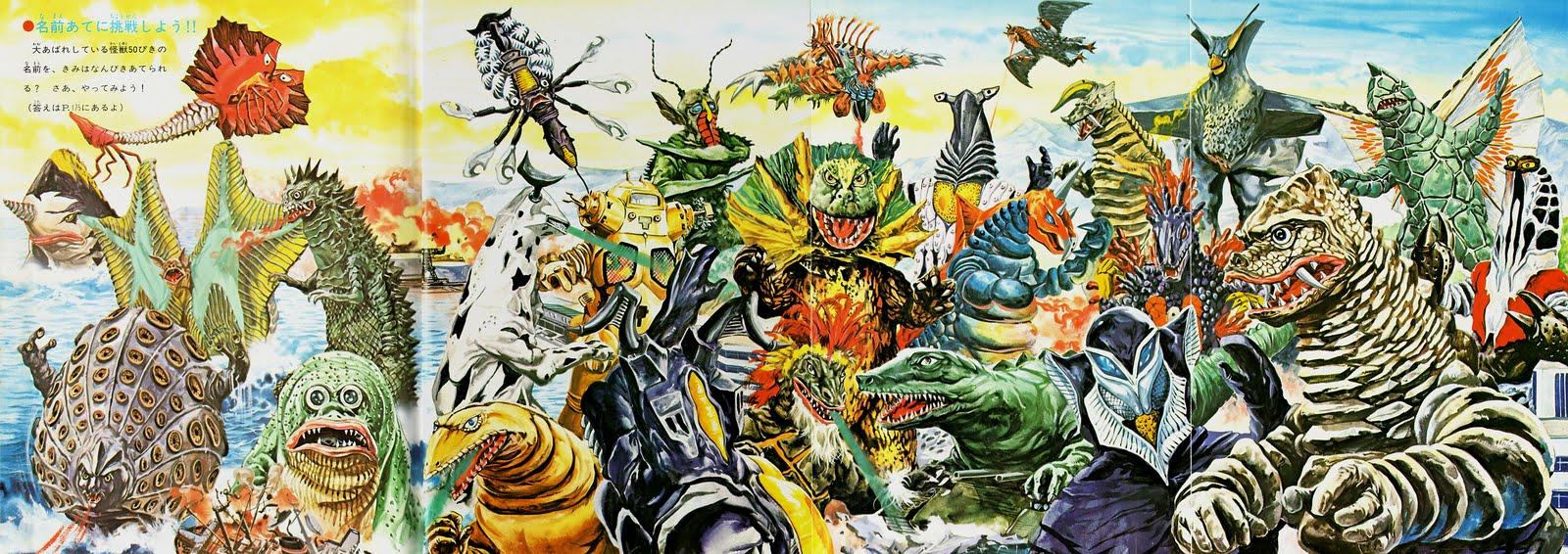 Vintage Ultraman Monster IllustrationUltraman Monsters List