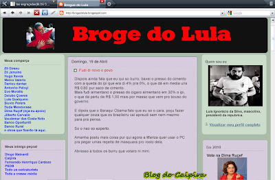 blog do presidente