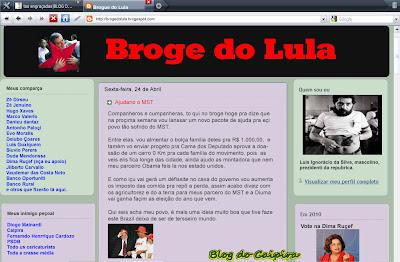 blog do lula atualizado mst