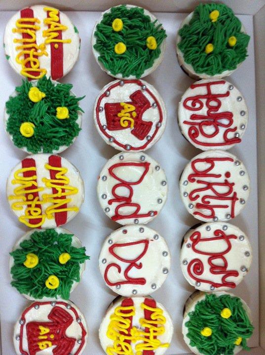 Sarah cup cake-Tempahan dari kak Indri for her hb Anuar's b'day