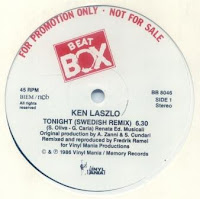 KEN LASZLO - Tonight (Swedish Remix) (1985)