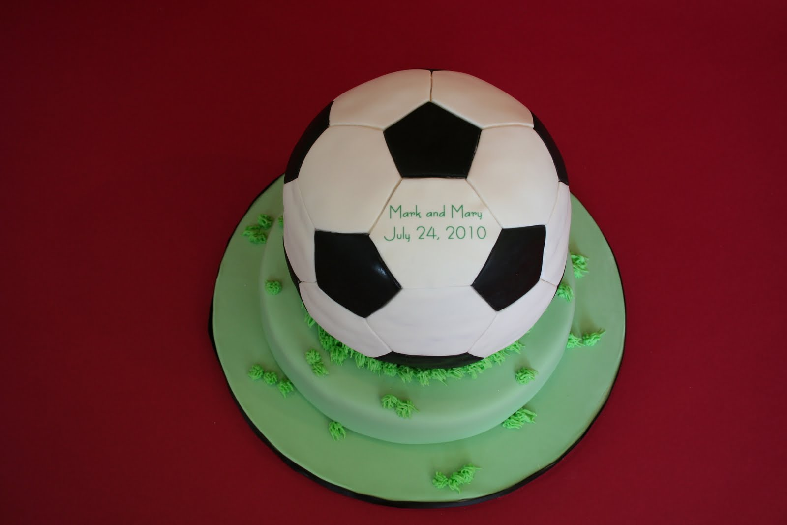Cake With Ball Design : Sweet Grace, Cake Designs: Soccer Ball Groom s Cake
