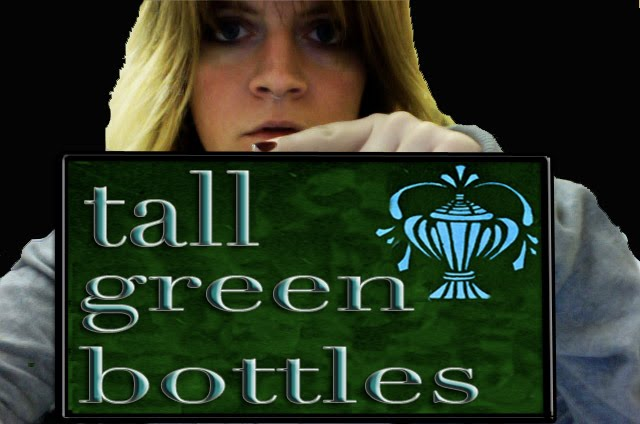 tall green bottles