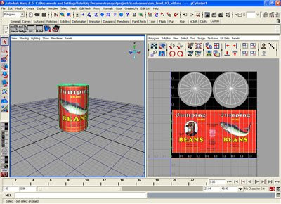 What the label looks like in the UV texture editor when the cylinder is selected in object mode