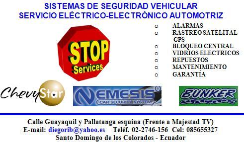 STOP SERVICES, TODO SOBRE ALARMAS Y VIDRIOS ELÉCTRICOS AUTOMOTRICES