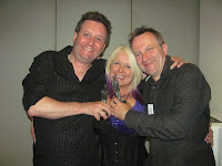 Me, Sam Stone and Conrad Williams with our BFAwards - Conrad won Best Novel.