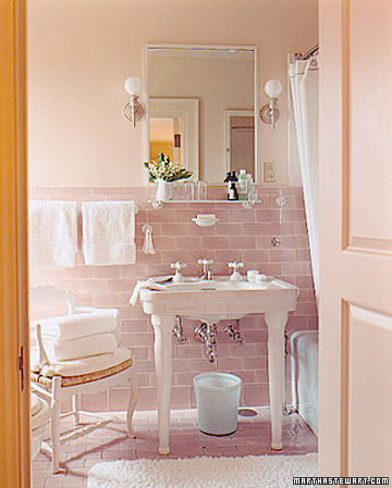 Beatrice banks modern vintage pink bathroom winner Pink bathroom ideas pictures