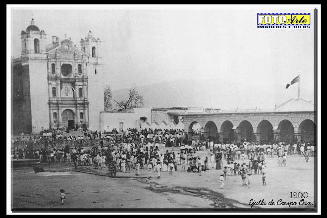 Postal de Ejutla de Crespo 1900