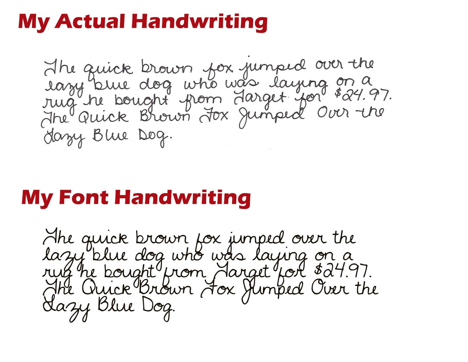 handwriting font mac