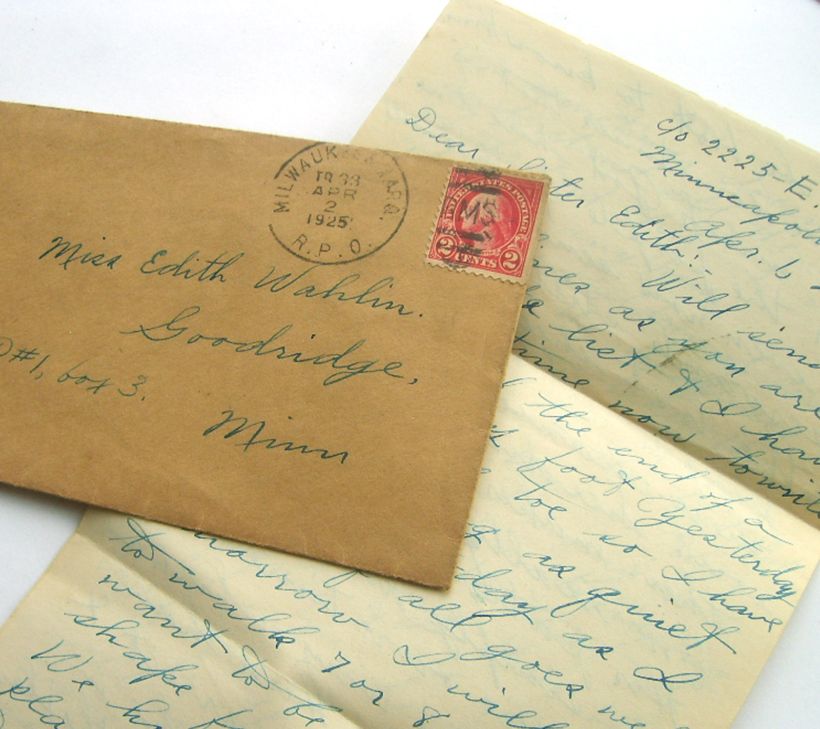 Sweet Love Vintage Letters To Edith