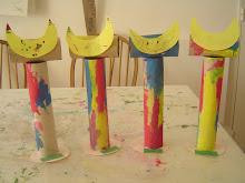 ... más esculturas en papel