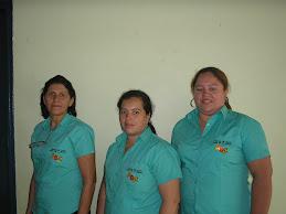 Vera, Ana Geralda e Jurcélia.