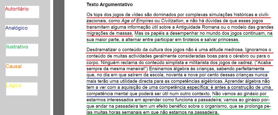 O que é texto argumentativo