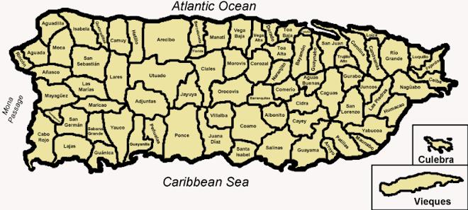 Mapa de Pto Rico