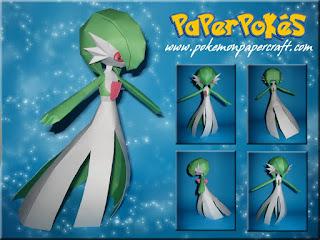 Pokemon Gardevoir Papercraft