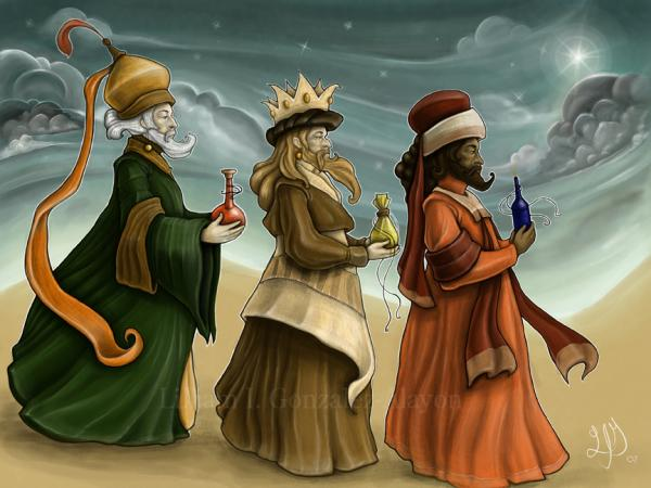 Cambre in English: The three wise men