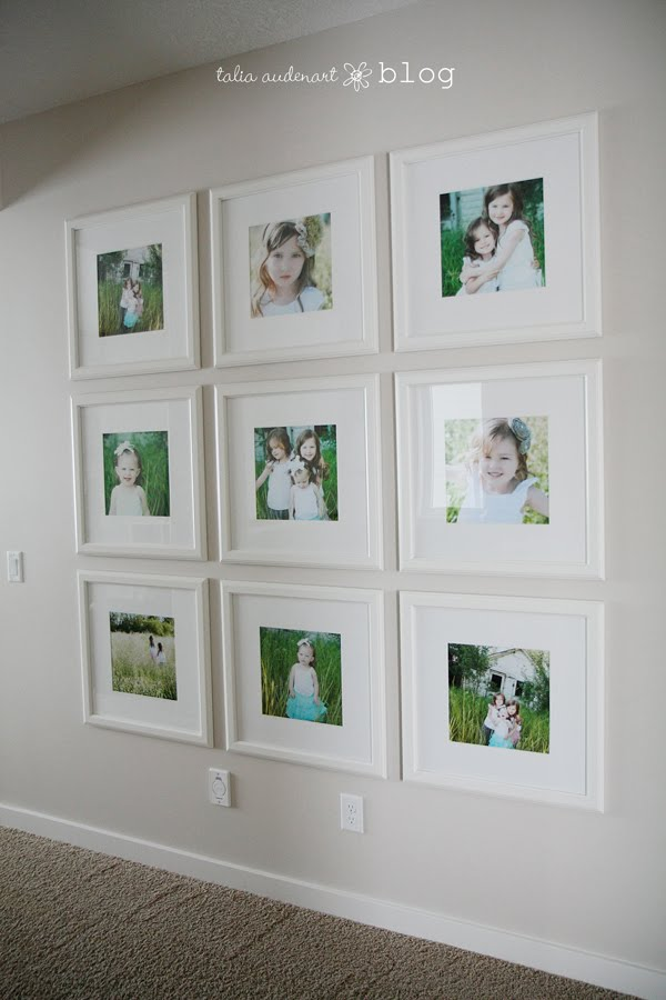 Photo display ideas tips and tricks for Wall of framed pictures