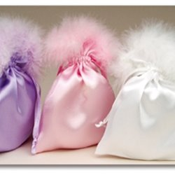 Satin Fluffy Pouches