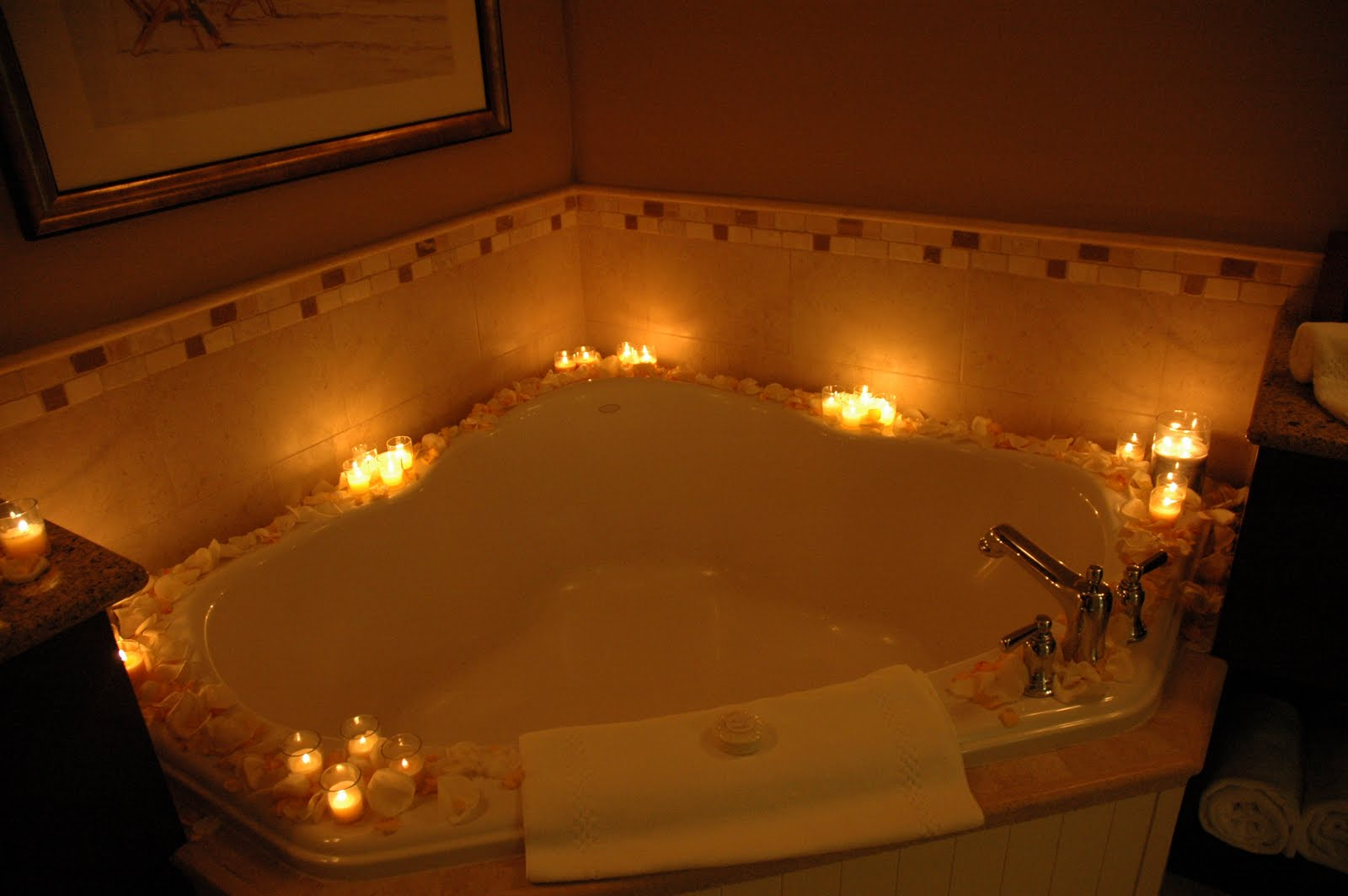 Your Honeymoon Suite At The Sandpearl Decorated With Flowers And Candles
