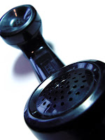 old fashioned black phone handset
