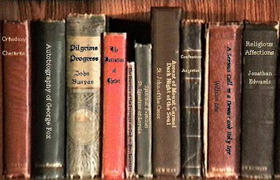 shelf of old books