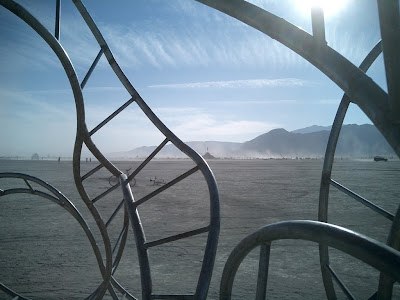 abstract cropping of sculptural jungle gym