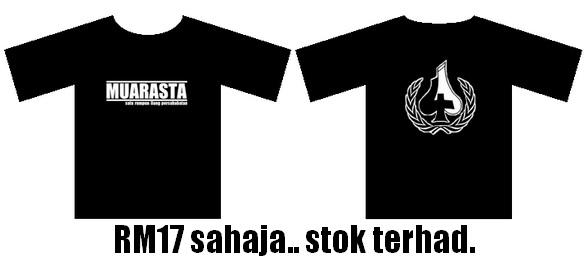 T-Shirt Muarasta (Hitam)