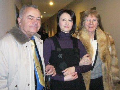 Cu Marie-Jeanne si Mircea Gherghinescu, la TVR1, in ianuarie 2008