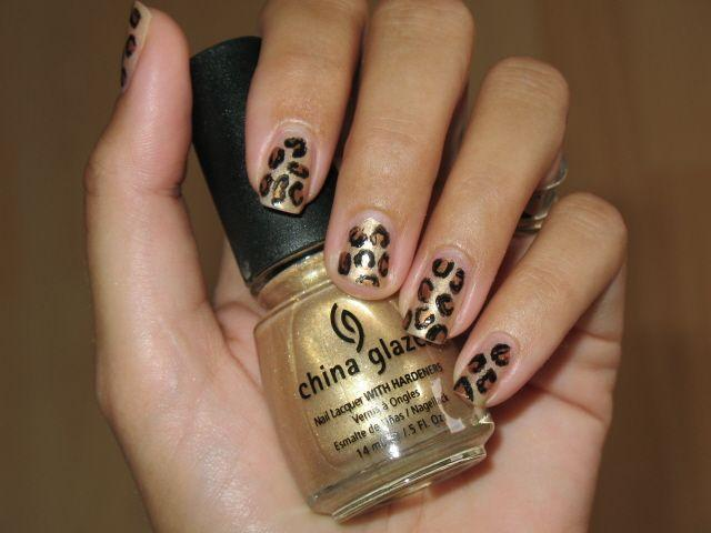 I also Love to do animal print nails. Yes, it's all done freehand with China