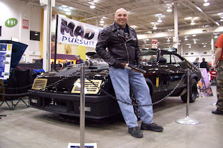 The AbbyShot Mad Max Jacket meets the Mad Max Car!