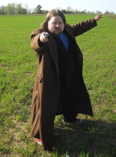AbbyShot Customer Brian in his Doctor Who Tenth Doctor's Coat XXL - With Sonic Screwdriver!