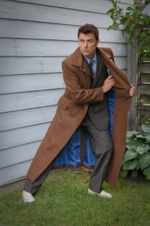 Donn in his Doctor Who Tenth Doctor's Coat from AbbyShot