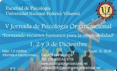 V Jornada de Psicología Organizacional