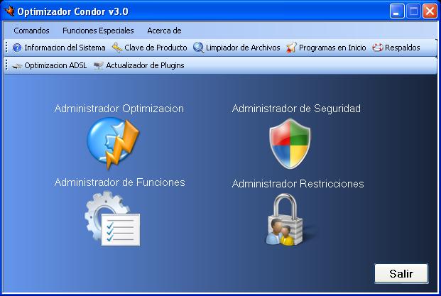 Optimizador Condor Optimizar el Rendimiento de Windows