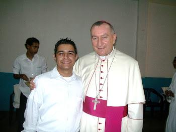 Jose Colmenarez y Monseñor Pietro Parolin