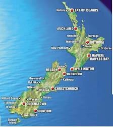 Mapa da Nova Zelandia